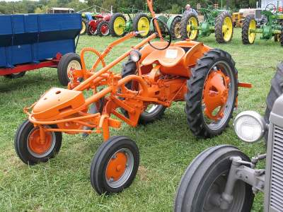 Allis-Chalmers G with rear engine & belly mounted tools