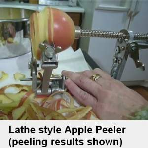 apple peeler - lathe style