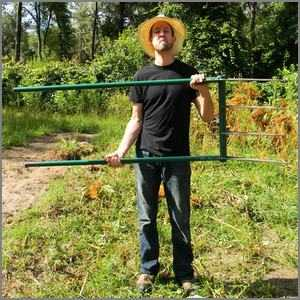 David the Good with a Meadow Creature broadfork