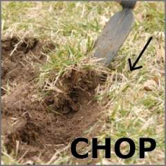 Digging Hoe chopping action