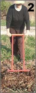 Pull back handle to loosen soil