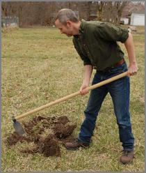 ergonomic long handled garden hoe