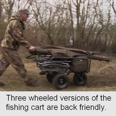 fishing wheelbarrow with three wheels