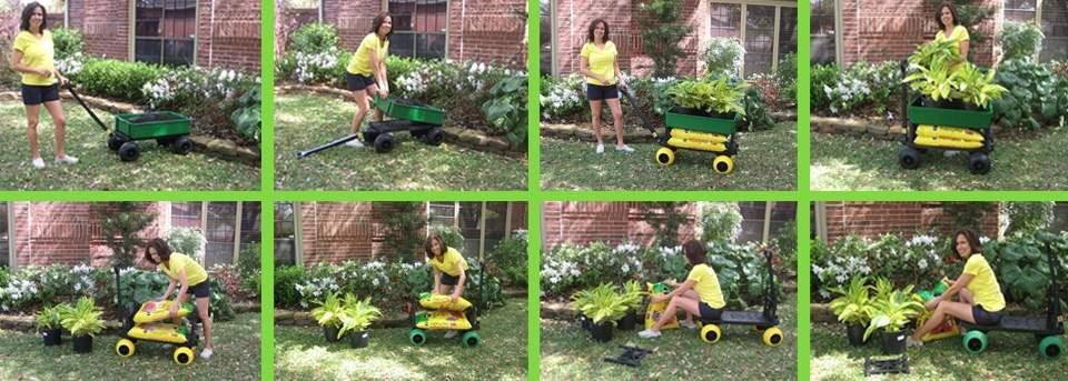 How to use a garden cart. Long banner