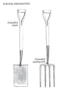 Garden Spade and Garden Fork drawing