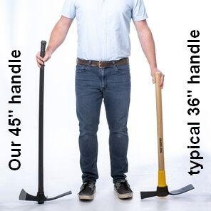 compare mattock handle lengths