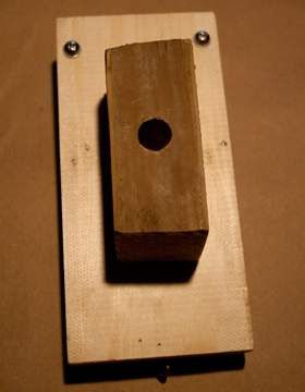 wood block that fits onto rebar stakes