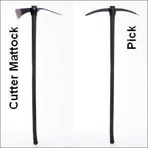 mattock and pick with long handles