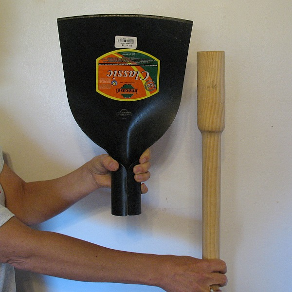 head and handle of push hoe