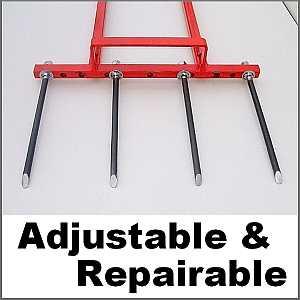 Repairable broadfork tines