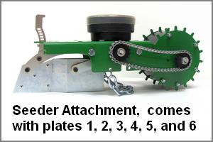 Seeder attachment for Hoss wheel hoes and cultivators