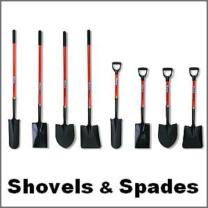 shovels and spades