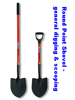 Round Point Shovels