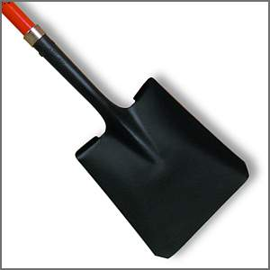 Heavy duty scoop shovels