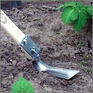 Ploskorez gardening hoe Stainless steel blade Long handle