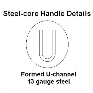 Steel core handle details