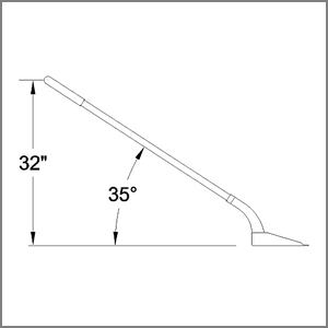 Trench cleanout shovel lift and angle