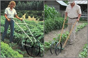 showing how wheel hoe is different from wheel cultivator
