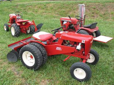 Three true garden tractors by Wheel Horse