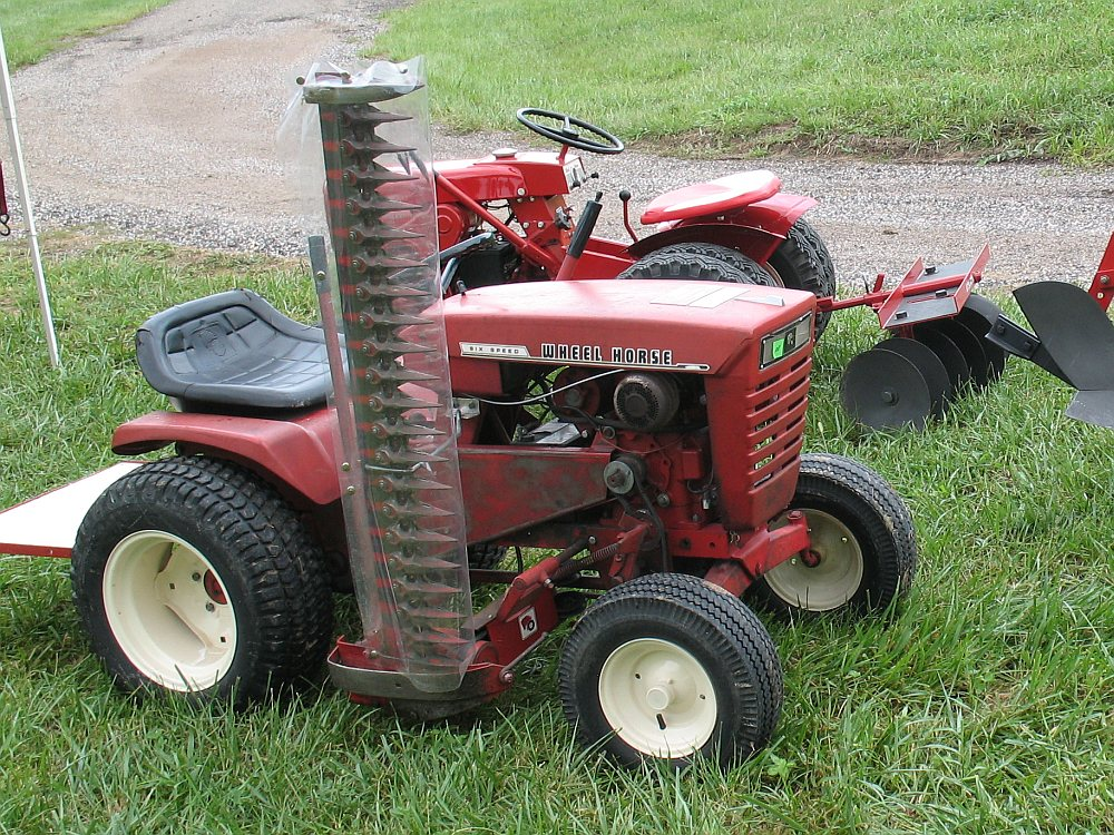 Missouri steam show antique weeders cool ideas for Sickle mower for garden tractor
