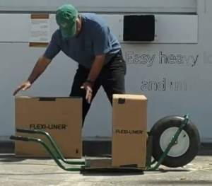 ground level wheelbarrow for moving heavy items