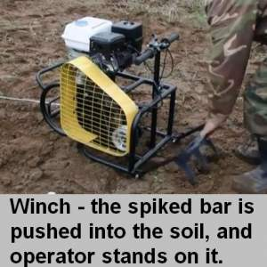 winch used for plowing