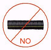 Corrugated drainage pipe - Do not use