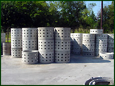 pre-cast concrete drywell sections