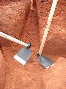 Trenching hoe - The easy way to dig